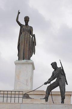 2013.12年末年始キプロス旅行16-レストランヒポクラテス,自由の記念像,聖ヨハネ教会,ビザンチン博物館