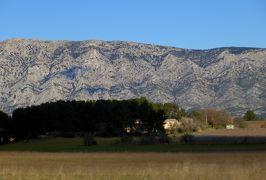 2014早春、南フランス等・4ヵ国巡り(31):3月1日(6):フランス:マルセイユから鷹の巣村へ、マルセイユ凱旋門、断層の山並、野生のミモザ