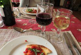 2014早春、南フランス等・4ヵ国巡り(32):3月1日(7):フランス:鷹の巣村が見えるレストランでの昼食、美味しかった食事とワイン