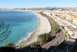 2014早春、南フランス等・4ヵ国巡り(41):3月2日(3):フランス:ニース、コート・ダジュール、イギリス人の歩道、白小鳩、ニース城跡公園