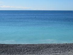 2014早春、南フランス等・4ヵ国巡り(44 ):3月2日(6):フランス:ニース、コート・ダジュール、ヤシの並木、地中海、再集合場所へ