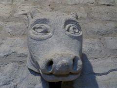 2014早春、南フランス等・4ヵ国巡り(50:補遺2):シテの城内展示品2:石像、レリーフ、フレスコ画