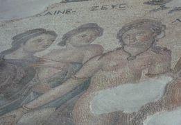 2013.12年末年始キプロス旅行18-マンドリアの海岸,パフォス考古学公園1(パフォスのモザイク1)