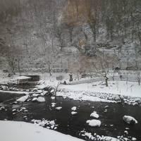 列車&バス旅/雪の湯原温泉