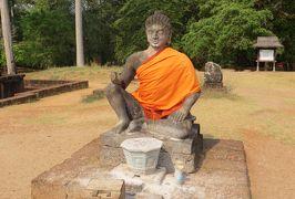 2014春、カンボジア旅行記2(35):3月22日(6):シェムリアップ、アンコール・トム、ライ王のテラス、タ・プロム遺跡へ、西門から入場