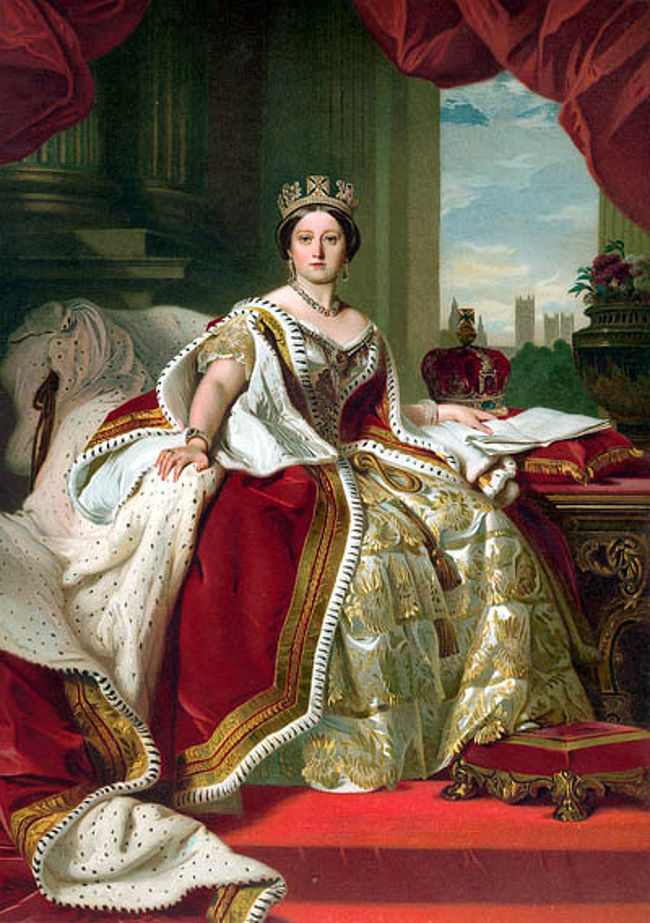 Romantische Strasseロマンチック街道、Schwaebische Alb Strasseシュヴェービッシュ・アルプ街道、Burgenstrasse古城街道の旅<br />期間:2012年05月15日(火)〜05月29日(火)15日間の旅・5月26日(土)<br /><br />≪英国ヴィクトリア女王はドイツ人だった!≫<br /><br />Queen Victoriaヴィクトリア女王(1819年5月24日〜 1901年1月22日)は繁栄を極めた大英帝国を象徴する女王(*イギリス・ハノーヴァー朝第6代女王)として知られ、その治世は特にヴィクトリア朝と呼ばれた。<br />その在位は63年7か月(1837年6月20日〜1901年1月22日)にも及んでいる。<br /><br />(注記)<br />ハノーヴァー家(House of Hanover)はドイツのヴェルフ家( Haus Welf:ブラウンシュヴァイク・リューネブルク家)の流れを汲む神聖ローマ帝国の諸侯の家系で、1692年に成立したハノーファー公国(選帝侯国、後に王国)の君主の家系であったが、1714年にステュアート朝(Stuart dynasty)に代わってイギリスの王家となり、ハノーファー王国とイギリス王国の君主を兼ねる同君連合体制をとった。所が、ハノーファーでは女子の継承を認めていなかったため、1837年のヴィクトリア女王のイギリス王即位をもって同君連合を解消し、ハノーファー王家はイギリス王家から分枝した。 <br />第一次世界大戦中に、敵国ドイツ帝国の領邦名が冠されている家名を避け、1917年に王宮の所在地ウィンザーにちなみウィンザー家(House of Windsor)と家名を改称した。<br />