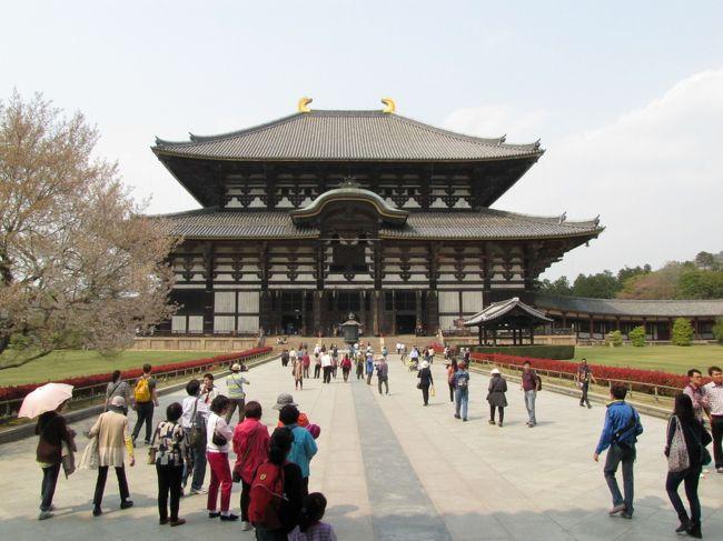 4月10日(木):9.00 トヨタレンタカーで奈良西ノ京到着、唐招提寺~薬師寺を散策、奈良公園に移動し興福寺~東大寺を散策、近鉄・南海で奈良~関西空港、ピーチ航空で関西空港~成田空港、22.00 自宅に帰宅です。<br /><br />奈良の西ノ京では、神秘的な雰囲気を漂わせ、鑑真和上が創建した天平文化の中心唐招提寺と明るく華やかで壮大な白鳳伽藍を展開する薬師寺を見学しました。<br />奈良公園では、大和の国筆頭の名刹で、天平・鎌倉仏の宝庫興福寺と、世界最大の木造建築物大仏殿、そこに鎮座する日本最大の大仏に魅了される東大寺を見学しました。<br /><br />2泊3日の「吉野の桜と古都奈良の旅」が終わった。3日間ともに天気にめぐまれ、気温も日中20度を超え、吉野山の下千本の桜が満開、飛鳥・斑鳩・信貴山の桜もまだまだ楽しめました。いにしえの都めぐりでは、大和路の代表的な寺院をめぐり、数々の仏像に会うことが出来ました。満足・満足~感謝・感謝の思い出に残る旅となりました。