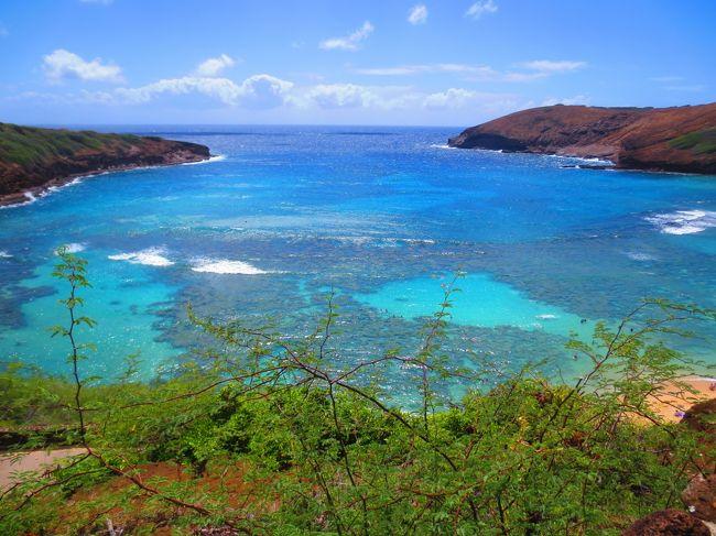 2013年9月にANAとUAのスターアライアンス特典で12回目のハワイ旅行。<br /><br /> <br /> ハナウマ湾はオアフ島の代表的なビーチです。今回は駆け足のビーチ巡りでしたので上からの写真のみとなります。<br /><br /> コバルトブルーの海が大好きで、いつも癒されます。<br /> <br /> 因みに、本編旅行記はこちら<br /> http://4travel.jp/travelogue/10819108 <br /><br /><br /><br /><br />