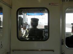 10月曜名鉄電車指差呼称訓練は女性運転士