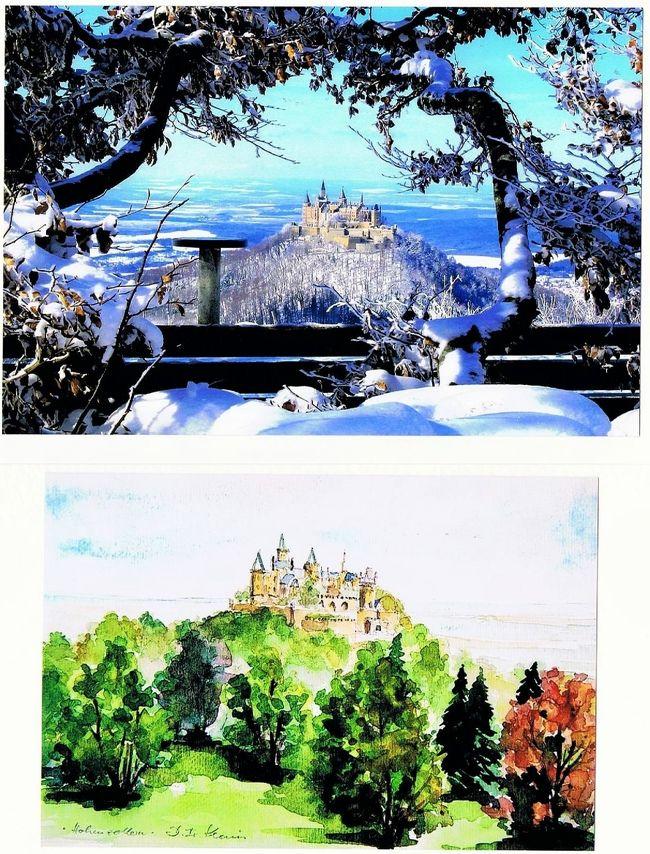 """貯めたマイルでイタリアへ行くはずが、南ドイツを旅することに決めました。<br />理由はいろいろあるけれど、女一人旅、個人旅行なので、安全面を重視したこと。<br /><br />そして何よりも、この絵葉書のような、孤高の雰囲気を醸し出す山城を見てみたかった。<br />ドイツ皇帝を輩出したホーエンツォレルン家。その発祥の地、ホーエンツォレルン城。<br />ホーエンツォレルン城ありきで、旅程のすべてを組み立てました。<br /><br />南ドイツ旅行のスタートは、いうまでもなく、このホーエンツォレルン城。<br />胸膨らむ、膨らむ!<br />ところが、ドイツ鉄道(DB)に悪戦苦闘、真夜中に道に迷う、などなどスットコドッコイも連発。<br />そのたびに多くのドイツ人のお世話になり、初対面の人の車に2回も乗せてもらうことに。<br /><br />ドイツ人の優しさと世話焼きがただただ嬉しくて、景色以上に、彼らの微笑みに救われた天野川。<br />やり切った10日間になりました。<br /><br />その他の日程の「南ドイツ鉄道旅行」は下記を参照してください。<br />☆vol.2 中世の町テュービンゲンを散策<br />  http://4travel.jp/travelogue/10879974<br />☆vol.3 廃墟に&quot;萌え""""るハイデルベルク<br />  http://4travel.jp/travelogue/10880969<br />☆vol.4 ドイツ三大美城の1つエルツ城<br />  http://4travel.jp/travelogue/10881532<br />☆vol.5 リューデスハイムでドイツ人のゴーゴーを見る<br />  http://4travel.jp/travelogue/10881734<br />☆vol.6 シャガールのステンドグラス<br />  http://4travel.jp/travelogue/10881929<br />☆vol.7 ニュルンベルクで地下通路ツアーとレッドビア<br />  http://4travel.jp/travelogue/10882006<br />☆vol.8 ミュンヘンで完:DBと私にとってのドイツ<br />    http://4travel.jp/travelogue/10882493"""