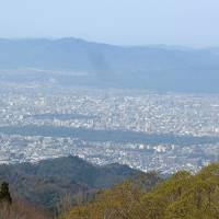フィンランドの友人家族と熱海・京都・奈良旅行3-大津ホテルテトラ,比叡山からの景色