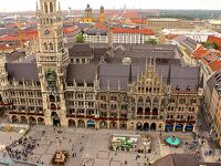ミュンヘン街歩き♪♪♪  市庁舎・マリエン広場・ペーター教会(塔からの眺め)・ミヒャエル教会と歩き夕暮れから ホフブロイハウス へ!