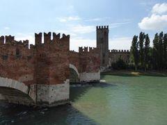 初夏の優雅な北イタリア旅行♪ Vol29(第3日目午前) ☆ベローナ(Verona):スカリジェロ橋(スカラ橋)Castel Vecchioを渡って絶景を楽しむ♪