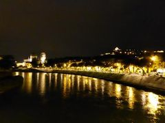 初夏の優雅な北イタリア旅行♪ Vol43(第3日目夜) ☆ベローナ(Verona):夜景のピエトラ橋(Ponte d'Pietra)やサンタナスタージア教会(S.Anastasia)♪