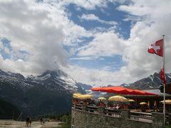 200907-02_スイストレッキング旅行-第3日-(リュッフェルアルプ~スネガ展望台へのハイキング)Hiking at Riffelalps->Sunnegga/Zermatt