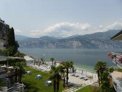 初夏の優雅な北イタリア旅行♪ Vol82(第6日目昼) ☆マルチェジーネ(Malcesine):ホテル「Castello Lake Front」から素晴らしい眺望♪