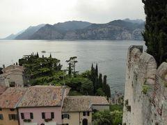 初夏の優雅な北イタリア旅行♪ Vol91(第6日目午後) ☆マルチェジーネ(Malcesine):スカラ城(Castello Scaligero)の城壁を歩いてガルダ湖(Lago di Garda)を眺めて♪