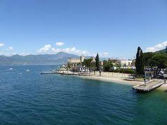 初夏の優雅な北イタリア旅行♪ Vol116(第8日目午前) ☆トッリ(Torri):トッリのスカラ城と美しいガルダ湖を眺めながらカーフェリーを待つ♪