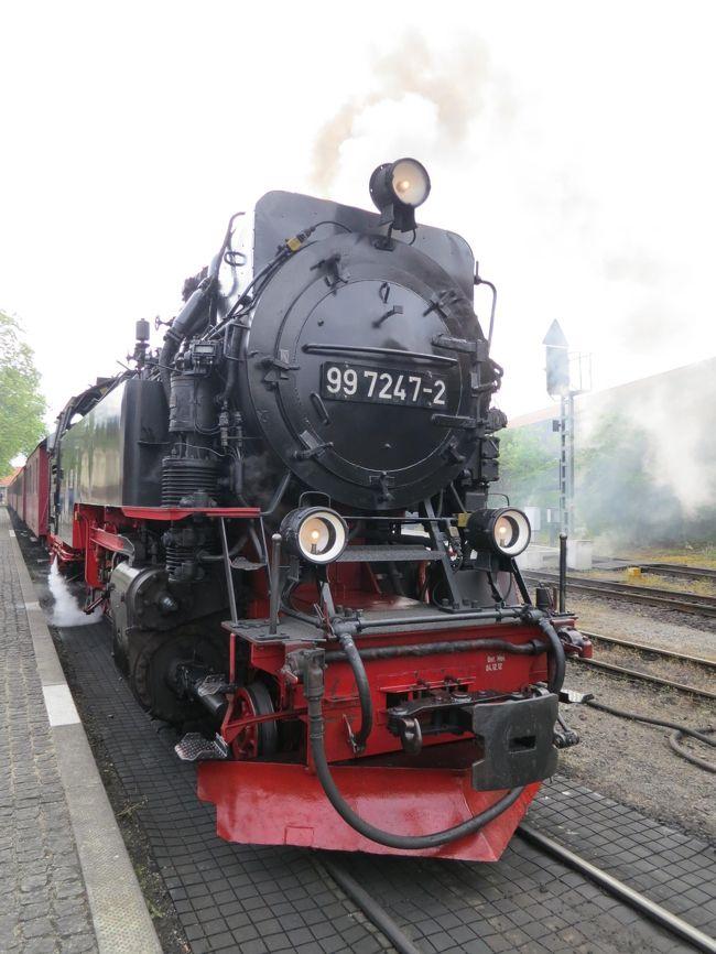 2014年5月4日(日)主人のリクエストでBrocken ブロッケン へ♪<br />えぇ!!目的はもちろん!!蒸気機関車に乗ってBrocken ブロッケン へ!!<br /><br />ガイドブックなどに記載されているお話をこちらにて。<br />魔女たちが集まる伝説の山ブロッケン♪<br />ハルツ地方で一番高い山なのに1142mしかないようです。<br />365日のうち260日ぐらい霧が出て100日ぐらいは一日中<br />霧に覆われてしまうらしいです。こういう現象を「ブロッケン現象」☆<br />この名前がつけられたようです。