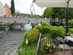 初夏の優雅な北イタリア旅行♪ Vol158(第10日目午後) ☆ボルゲット(Borghetto):600年の水車の村で優雅なカフェタイム♪