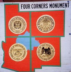 2001年 ユタ・コロラド・アリゾナ・ニューメキシコ州ドライブ(11 days) =Day 5= ~フォー・コーナーズ~