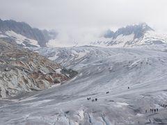 スイスアルプス 絶景と花に酔う4日目~グリムゼル峠&フルカ峠越え・ローヌ氷河・氷河特急~