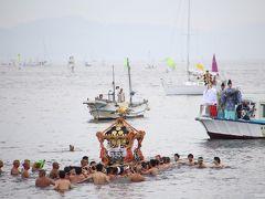江の島・天王祭:神輿の海上渡御