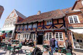 2014.5コペンハーゲン出張旅行15-Ribe散歩3:Weis Stueでのランチ,聖カタリ-ナ教会,リーベ河畔,Copenhagenへ