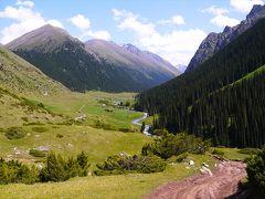 新疆キルギス・カザフ旅9▼アラシャン温泉までトレッキング