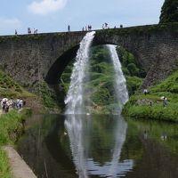 スヌーピーと滝の旅(阿蘇の火口、通潤橋、五老の滝、聖滝、そして湯布院温泉編)