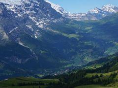 2014年 初スイス ハイキングの旅  3日目前半 (グローセ・シャイディック~フィルストハイキング)