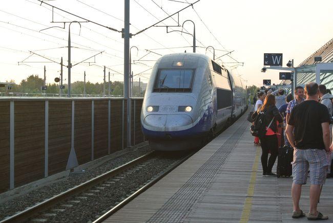 だいぶ急ぎ足の旅行も(←いつものこと)、とうとう最終日。<br />あとは帰るのみでございます。<br /><br />南フランスのアヴィニョンから、TGVにてパリのド・ゴール空港までの直通で帰ります。<br />なんと見事な行程組み!!<br />我ながらあっぱれ(*^^*)<br /><br /><br />アヴィニョンTGV駅は非常にきれいで好感。<br />時間通りに列車は到着しましたが、なんと号車がぐちゃぐちゃ。<br />日本のように何号車は、ここに停車しますよ的な表示は一切ありません。<br />しかも、数字の通りに連結されてないもんだから全ての乗客が、入線後に猛ダッシュ!!<br /><br />ミニてつを抱えて我々もBダッシュ=3<br />はぁはぁ<br /><br />車内はスペインのAVEよりは広いので、ちょっと安心。<br /><br />リヨンなんかを経由して、三時間強で到着♪<br />やっぱり車よか、全然速いし楽チンですわ←当然<br />昨日のモンペリエ渋滞がうらめしい、、、。<br /><br /><br />さて旅の最終関門、ここから中国東方航空に乗って、上海経由で帰るということ。<br />行きの辛さは、第一号の日記に譲るとして、じっと耐え抜きます。<br />我慢の子。<br /><br />行きは、なななんと七時間を超す乗り継ぎ時間を空港内で耐え抜きました。<br />(何故、市内に出なかったかというと、その当時PM2,5という訳のわからんスモッグ?の恐怖に怯えておりまして)<br />帰りはわずか二時間の乗り継ぎ時間なので余裕です!!<br /><br />六泊九日(二回機中泊(-_-;))の旅行は、忍耐力をつけるための合宿だったのでした。<br /><br />おしまい