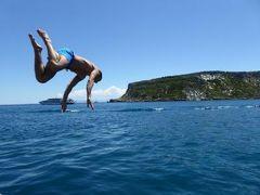 真夏の優雅な南イタリア旅行 Napoli×Puglia♪ Vol46(第4日目昼) ☆トレミティ諸島(Isole Tremiti):I.S.Domino×I.Capraiaのクルーズツアー♪美しい海に飛び込む観光客♪