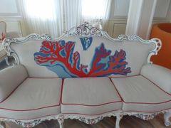 真夏の優雅な南イタリア旅行 Napoli×Puglia♪ Vol52(第5日目朝) ☆ビエステ(Vieste):Palace Hotel Viesteの素敵なロビー♪
