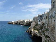 真夏の優雅な南イタリア旅行 Napoli×Puglia♪ Vol70(第6日目昼) ☆ポリニャーノ・ア・マーレ(Polignano a Mare):美しい旧市街と断崖絶壁を眺めて♪