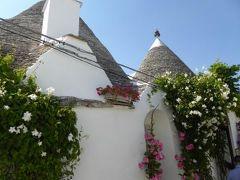 真夏の優雅な南イタリア旅行 Napoli×Puglia♪ Vol146(第9日目午後) ☆:アルベロベッロ(Alberobello):夏の花とトゥルッリの競演が美しい♪