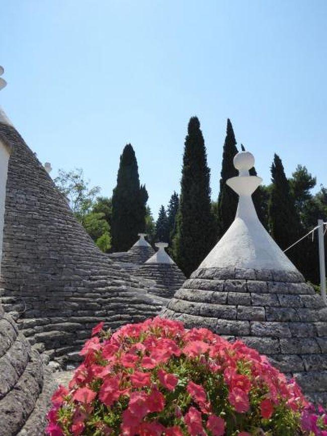 真夏の優雅な南イタリア旅行 Napoli×Puglia♪ Vol144(第9日目午後) ☆:アルベロベッロ(Alberobello):日本大好きアンナ・マリアおばさんのお店「MATARRESE」の屋上から絶景♪