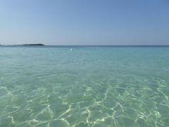 真夏の優雅な南イタリア旅行 Napoli×Puglia♪ Vol224(第12日目昼) ☆ポルト・チェザーレオ(Porto Cesareo):イオニア海で最も美しいビーチで優雅に過ごしてランチ♪