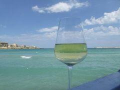 真夏の優雅な南イタリア旅行 Napoli×Puglia♪ Vol266(第14日目昼) ☆オートラント(Otranto):ビーチの絶景レストラン「Miramare」で優雅なランチ♪