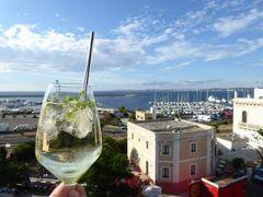 真夏の優雅な南イタリア旅行 Napoli×Puglia♪ Vol299(第15日目夕) ☆ガリポリ(Gallipoli):高級ホテル「Palazzo del Corso」の屋上で優雅なアペリティフタイム♪
