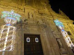真夏の優雅な南イタリア旅行 Napoli×Puglia♪ Vol302(第15日目夜) ☆ガリポリ(Gallipoli):お祭りスタート!まずは旧市街のイルミネーションを眺めて♪