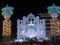 真夏の優雅な南イタリア旅行 Napoli×Puglia♪ Vol303(第15日目夜) ☆ガリポリ(Gallipoli):楽しい祭り♪素晴らしいルミナリエに酔いしれる♪