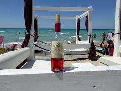 真夏の優雅な南イタリア旅行 Napoli×Puglia♪ Vol309(第16日目昼) ☆ガリポリ(Gallipoli):ガリポリの美しい「SAMSARA」ビーチで絶景を見ながら優雅なランチ♪