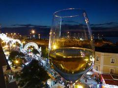 真夏の優雅な南イタリア旅行 Napoli×Puglia♪ Vol313(第16日目夜) ☆ガリポリ(Gallipoli):「Palazzo del Corso」の屋上メインダイニングで煌めくルミナリエを眺めながらディナー♪