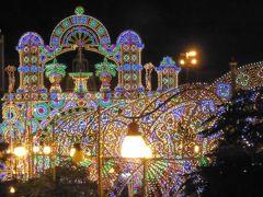 真夏の優雅な南イタリア旅行 Napoli×Puglia♪ Vol314(第16日目夜) ☆ガリポリ(Gallipoli):「Palazzo del Corso」のジュニアスイートルームから煌めくルミナリエを眺めて♪