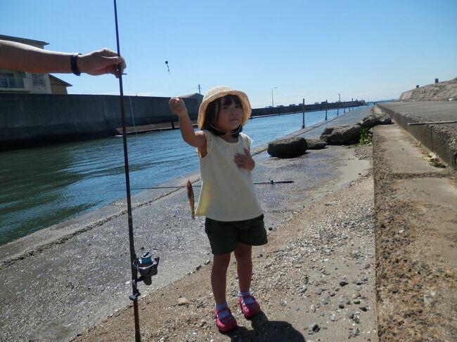 10水曜孫と初めての釣りは下見をしてから大野海岸に