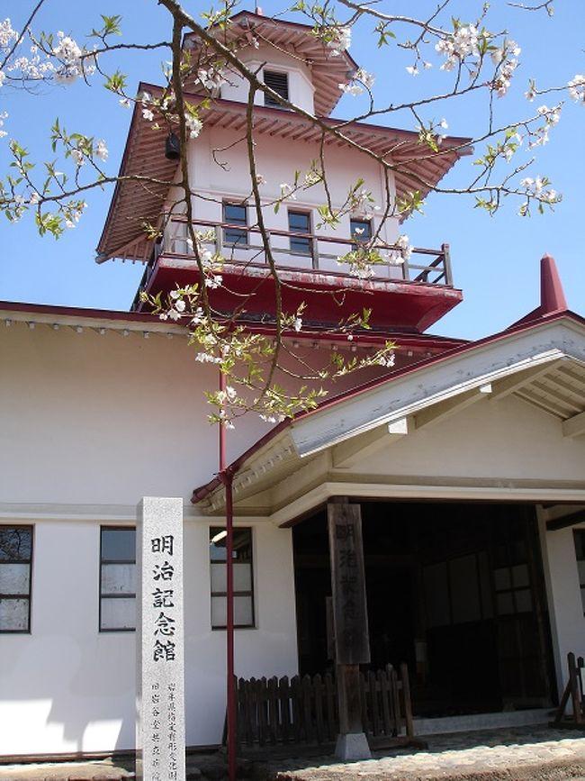 江刺地区は昔から文化人や偉人を輩出してきたので,とても見どころの多い体験ができました。特に昭和のノスタルジックさを味わいたい方にはおすすめの明治記念館です。2階からお寺が見えちょうど桜の咲く時期でお花見もできました。