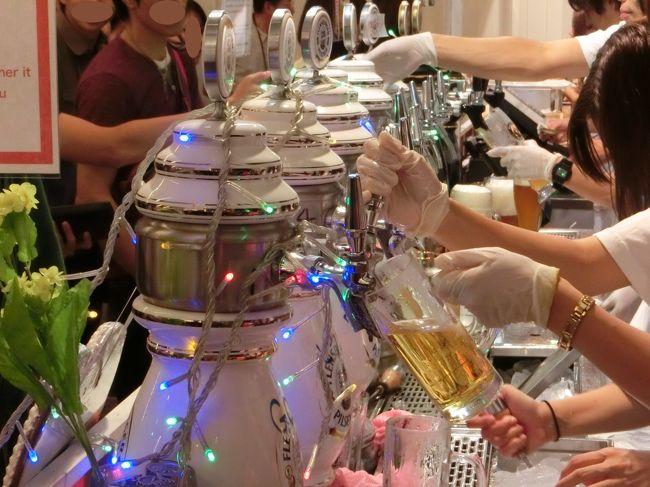 恒例の秋の横浜オクトーバーフェストに参戦。<br />関東地区でのオクトーバーフェストで一番盛り上がるのがここの会場。<br />今年も開演前から長蛇の列でした。<br /><br />メインのビールも今年は新登場のビールも多く楽しめました。