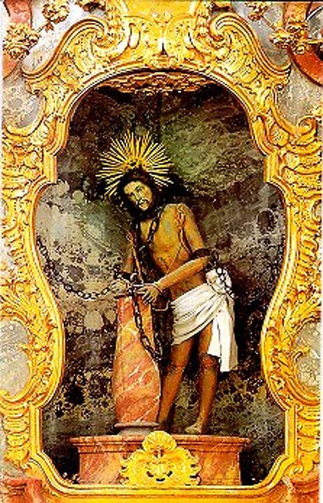 """≪伝説: """"鞭打たれたキリスト像が涙を流した""""・ヴィース教会≫"""