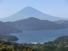 大観山からの芦ノ湖と富士山  天閣台から見る富士山の景色はちょっと違う  箱根ターンパイク急降下の景色も一緒にね。